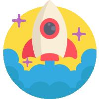 Fancy Elementor Flipbox Rocket Image